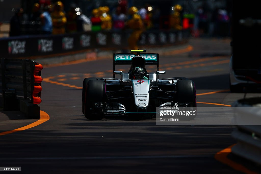 <a gi-track='captionPersonalityLinkClicked' href=/galleries/search?phrase=Nico+Rosberg&family=editorial&specificpeople=800808 ng-click='$event.stopPropagation()'>Nico Rosberg</a> of Germany driving the (6) Mercedes AMG Petronas F1 Team Mercedes F1 WO7 Mercedes PU106C Hybrid turbo on track during practice for the Monaco Formula One Grand Prix at Circuit de Monaco on May 26, 2016 in Monte-Carlo, Monaco.