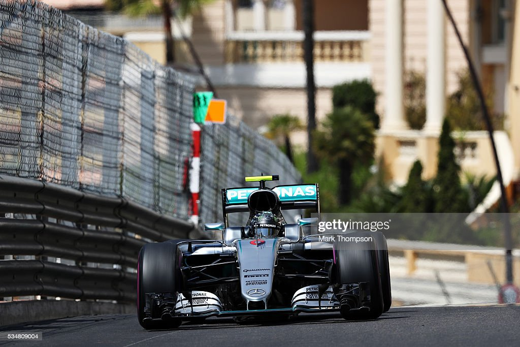 <a gi-track='captionPersonalityLinkClicked' href=/galleries/search?phrase=Nico+Rosberg&family=editorial&specificpeople=800808 ng-click='$event.stopPropagation()'>Nico Rosberg</a> of Germany driving the (6) Mercedes AMG Petronas F1 Team Mercedes F1 WO7 Mercedes PU106C Hybrid turbo on track during final practice ahead of the Monaco Formula One Grand Prix at Circuit de Monaco on May 28, 2016 in Monte-Carlo, Monaco.