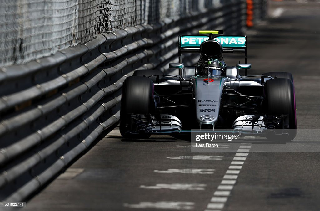 <a gi-track='captionPersonalityLinkClicked' href=/galleries/search?phrase=Nico+Rosberg&family=editorial&specificpeople=800808 ng-click='$event.stopPropagation()'>Nico Rosberg</a> of Germany driving the (6) Mercedes AMG Petronas F1 Team Mercedes F1 WO7 Mercedes PU106C Hybrid turbo on track during qualifying for the Monaco Formula One Grand Prix at Circuit de Monaco on May 28, 2016 in Monte-Carlo, Monaco.