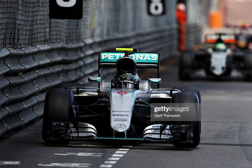 <a gi-track='captionPersonalityLinkClicked' href=/galleries/search?phrase=Nico+Rosberg&family=editorial&specificpeople=800808 ng-click='$event.stopPropagation()'>Nico Rosberg</a> of Germany driving the (6) Mercedes AMG Petronas F1 Team Mercedes F1 WO7 Mercedes PU106C Hybrid turbo on track during the Monaco Formula One Grand Prix at Circuit de Monaco on May 29, 2016 in Monte-Carlo, Monaco.
