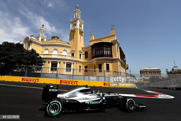 Nico Rosberg of Germany driving the Mercedes AMG Petronas F1 Team Mercedes F1 WO7 Mercedes PU106C Hybrid turbo on track during final practice before...