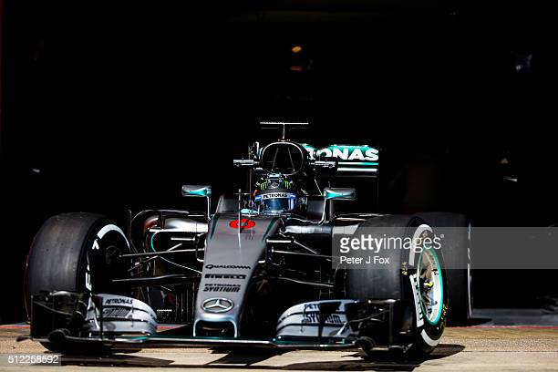 Nico Rosberg of mercedes and Germany during day three of F1 winter testing at Circuit de Catalunya on February 24 2016 in Montmelo Spain