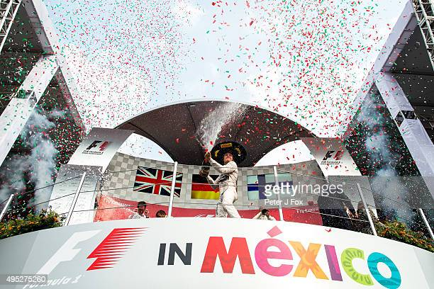 Nico Rosberg of Mercedes and Germany during the Formula One Grand Prix of Mexico at Autodromo Hermanos Rodriguez on November 1 2015 in Mexico City...