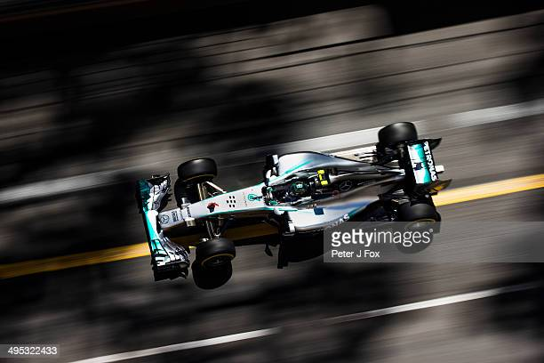 Nico Rosberg of Mercedes and Germany during the Monaco F1 Grand Prix at Circuit de Monaco on May 25 2014 in MonteCarlo Monaco