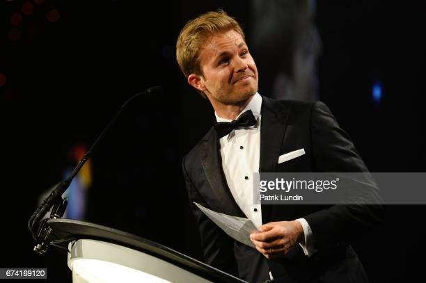 Nico Rosberg presents the Campaign of the Year award in association with Smart Group during the BT Sport Industry Awards 2017 at Battersea Evolution...