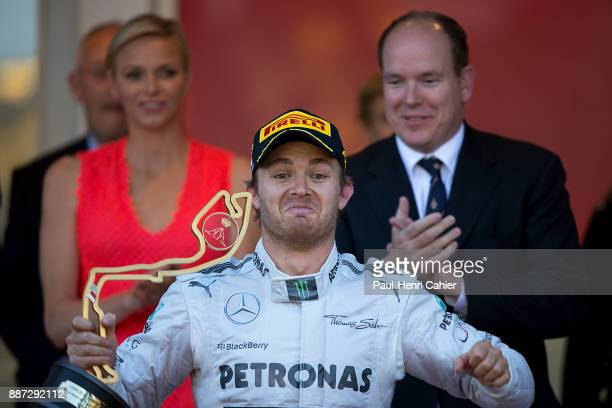 Nico Rosberg Prince Albert of Monaco Princess Charlene of Monaco Grand Prix of Monaco Circuit de Monaco 26 May 2013