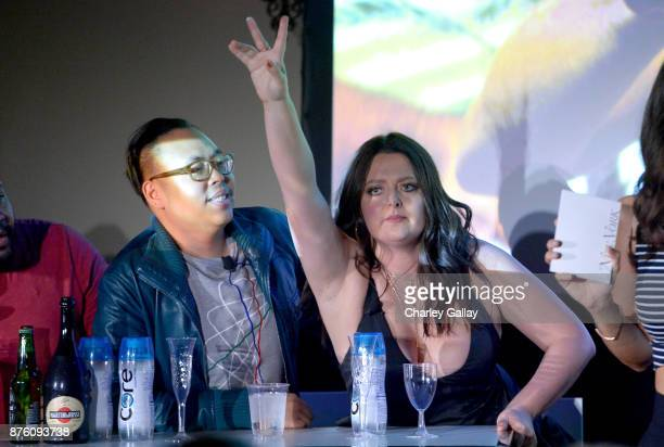 Nico Santos Lauren Ash attend the ''Unreal vs Superstore Pop Culture Trivia Game Show' part of Vulture Festival LA Presented by ATT at Hollywood...
