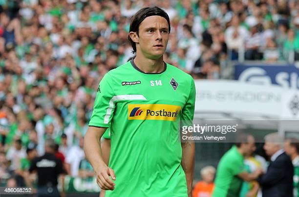 Nico Schulz of Borussia Moenchengladbach before the Bundesliga match between Werder Bremen and Borussia Moenchengladbach at Weserstadion on August 30...