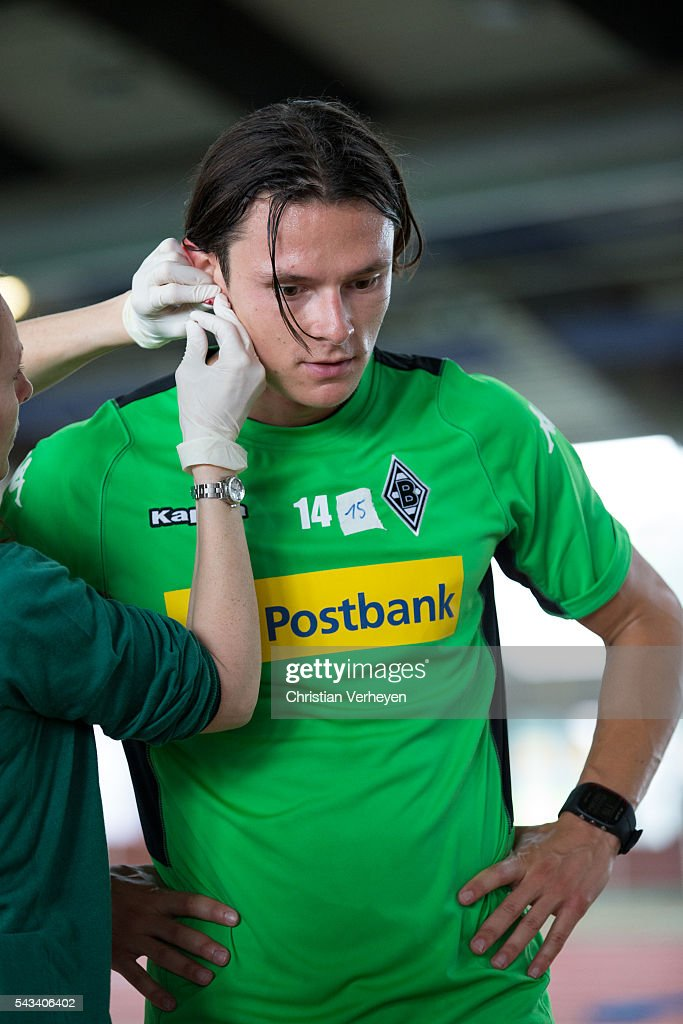 Nico Schulz of Borussia Moenchengladbach during a Lactate Test in Duesseldorf on June 28, 2016 in Moenchengladbach, Germany.