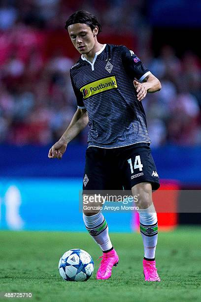 Nico Schulz of Borussia Monchengladbach controls the ball during the UEFA Champions League Group D match between Sevilla FC and VfL Borussia...
