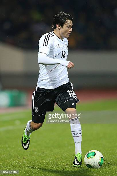 Nico Schulz of Germany runs with the ball during the 2015 UEFA European U21 Championships Qualifying Group Six match between Germany U21 and Faroe...