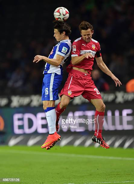 Nico Schulz of Hertha BSC and Christian Gentner of VfB Stuttgart during the game between Hertha BSC and VfB Stuttgart on october 3 2014 in Berlin...