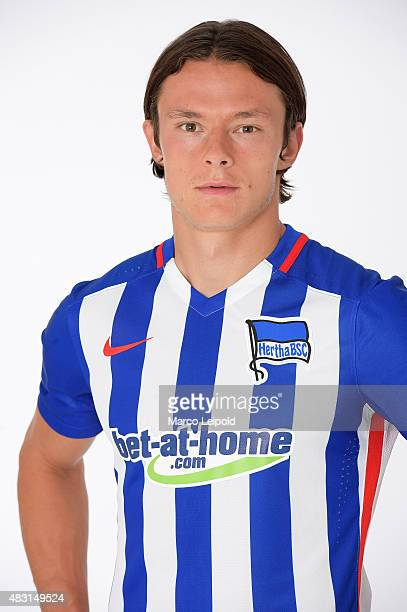 Nico Schulz of Hertha BSC during a portrait session for the 2015/16 season on August 6 2015 in Berlin Germany