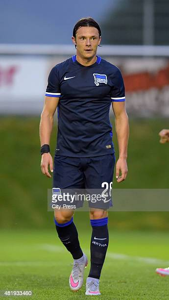 Nico Schulz of Hertha BSC during the game between Hertha BSC and Akhisar Belediyespor on july 25 2015 in Schladming Austria