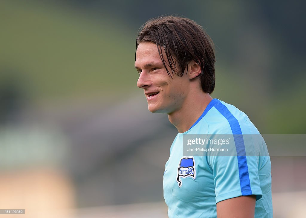 Nico Schulz of Hertha BSC during the training camp in Schladming on July 20, 2015 in Schladming, Austria.