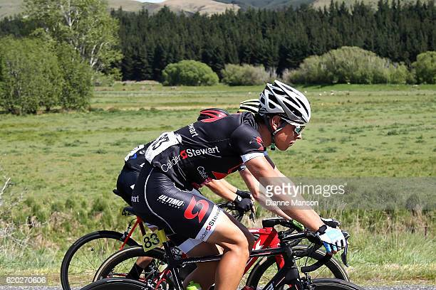 Nico Selentai of Switzerland heads towards Coronet Peak from Mossburn during stage three of the 2016 Tour of Southland on November 02 2016 in...
