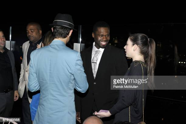 Nico Tortorella 50 Cent and Michelle Trachtenberg attend THE CINEMA SOCIETY 2IST Host The After Party for 'TWELVE' at Le Bain at The Standard Hotel...