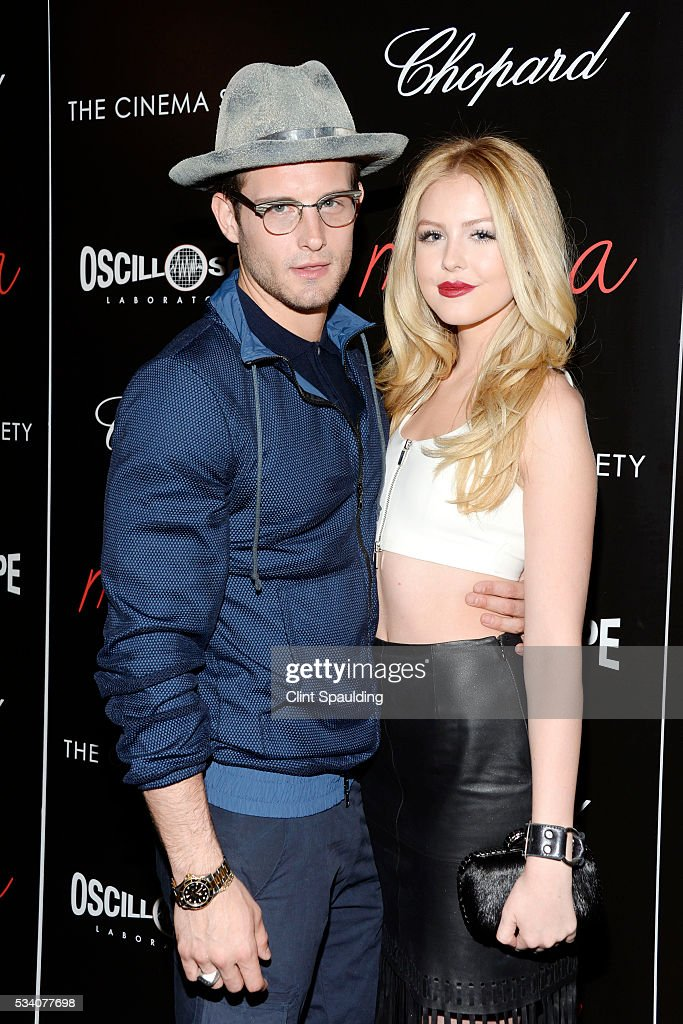 Nico Tortorella and Stephanie McPhillips attend The Cinema Society and Chopard Host a Screening of Oscilloscope's 'ma ma' at Landmark Sunshine Theatre on May 24, 2016 in New York City.