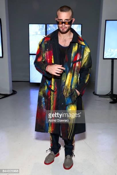 Nico Tortorella attends the Chromat fashion show during New York Fashion Week The Shows at Gallery 3 Skylight Clarkson Sq on September 8 2017 in New...