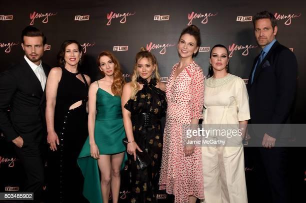 Nico Tortorella Miriam Shor Molly Bernard Hilary Duff Sutton Foster Debi Mazar and Peter Hermann attend the 'Younger' Season Four Premiere Party at...