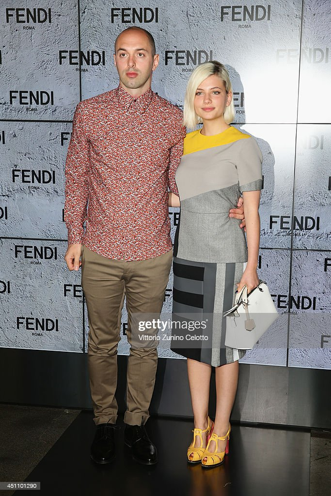 Nico Vascellari and Miriam Giovanelli attend the Fendi show during Milan Menswear Fashion Week Spring Summer 2015 on June 23, 2014 in Milan, Italy.