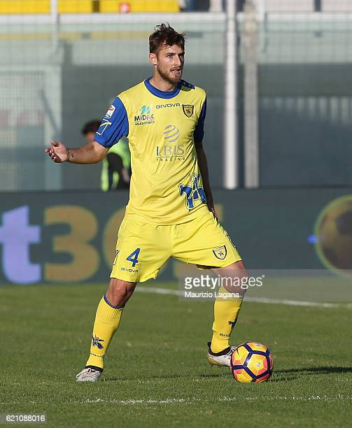 Nicoal Rigoni of Chievo during the Serie A match between FC Crotone and AC ChievoVerona at Stadio Comunale Ezio Scida on October 30 2016 in Crotone...