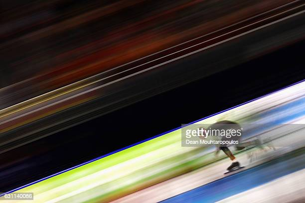 Nico Ihle of Germany competes in the 1000m Mens race on Day Two of the ISU European Speed Skating Championships held at the Thialf on January 7 2017...