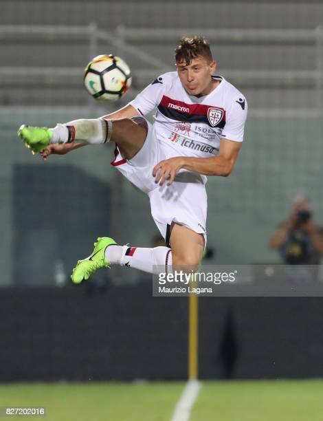 Nicolò Barella of Cagliari during the PreSeason Friendly match between FC Crotone and Cagliari Calcio at Stadio Comunale Ezio Scida on August 5 2017...