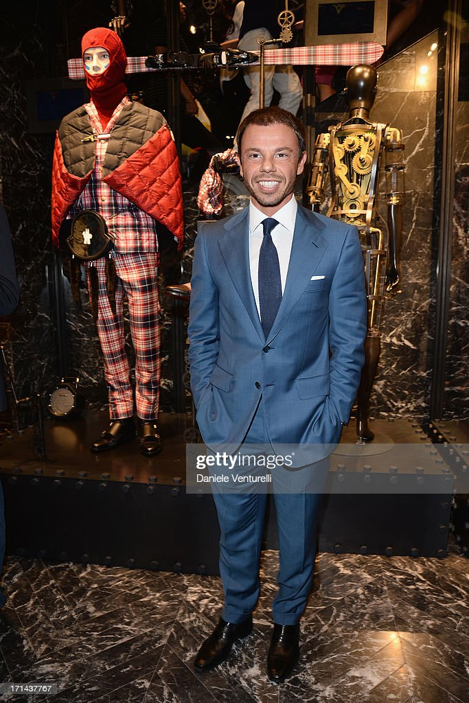 Nicolò Cardi attends the Moncler cocktail party during Milan Menswear Fashion Week Spring Summer 2014 show on June 24 2013 in Milan Italy