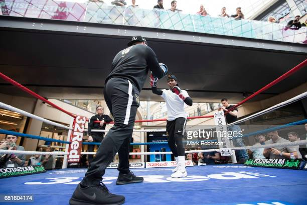 Nicola Adams takes part in a public workout on May 10 2017 in Leeds England
