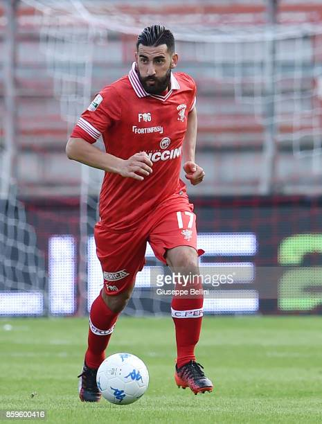 Nicola Belmonte of AC Perugia in action during the Serie B match between AC Perugia and Pro Vercelli at Stadio Renato Curi on October 8 2017 in...
