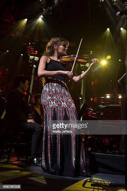 Nicola Benedetti performs on stage for iTunes Festival at The Roundhouse on September 28 2014 in London United Kingdom