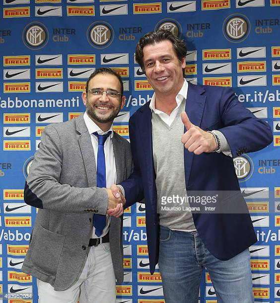 Nicola Berti attends at meeting between FC Internazionale Milano players and fans at Astoria Hotel on October 23 2015 in Palermo Italy