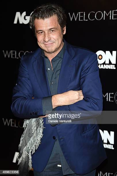 Nicola Berti attends the Agon Channel launch party photocall on November 26 2014 in Milan Italy