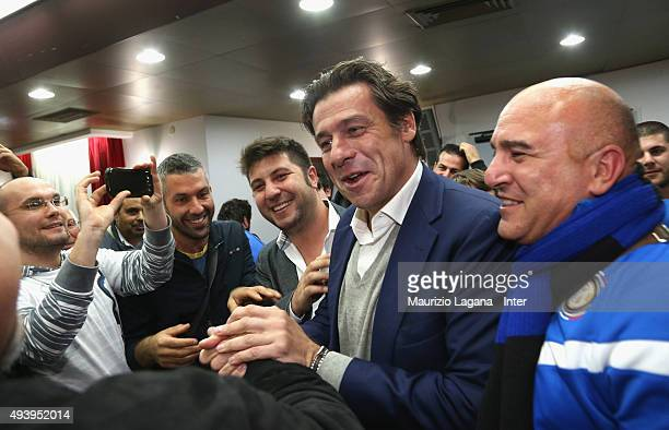 Nicola Berti of Inter attends at meeting between FC Internazionale Milano players and fans at Astoria Hotel on October 23 2015 in Palermo Italy