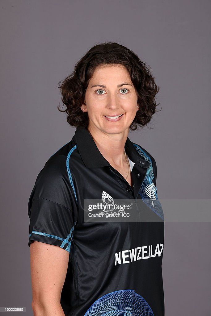 Nicola Browne of New Zealand poses at a portrait session ahead of the ICC Womens World Cup 2013 at the Taj Mahal Palace Hotel on January 27, 2013 in Mumbai, India.