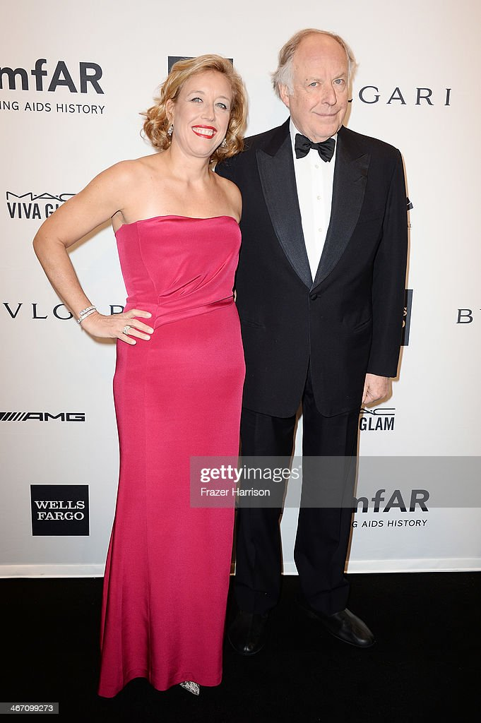 Nicola Bulgari and Veronica Bulgari attend the 2014 amfAR New York Gala at Cipriani Wall Street on February 5 2014 in New York City