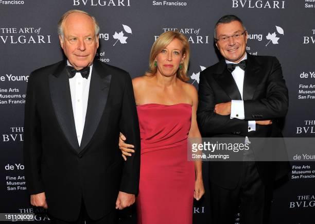 Nicola Bulgari Veronica Bulgari and JeanChristophe Babin attend the Bvlgari Retrospective Opening at M H de Young Memorial Museum on September 18...