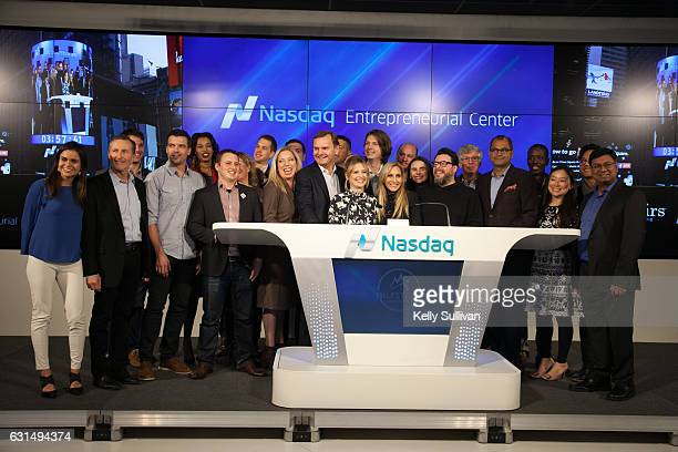Nicola Corzine Executive Director of the Nasdaq Entrepreneurial Center Bruce Aust Vice Chairman of Nasdaq and President of the Nasdaq Entrepreneurial...
