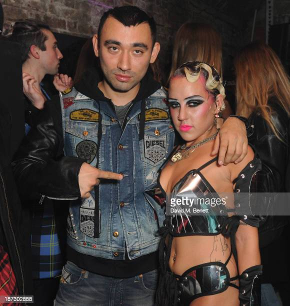 Nicola Formichetti and Brooke Candy attend Nicola Formichetti celebrates his first capsule collection #DIESELTRIBUTE at launch party hosted by Diesel...