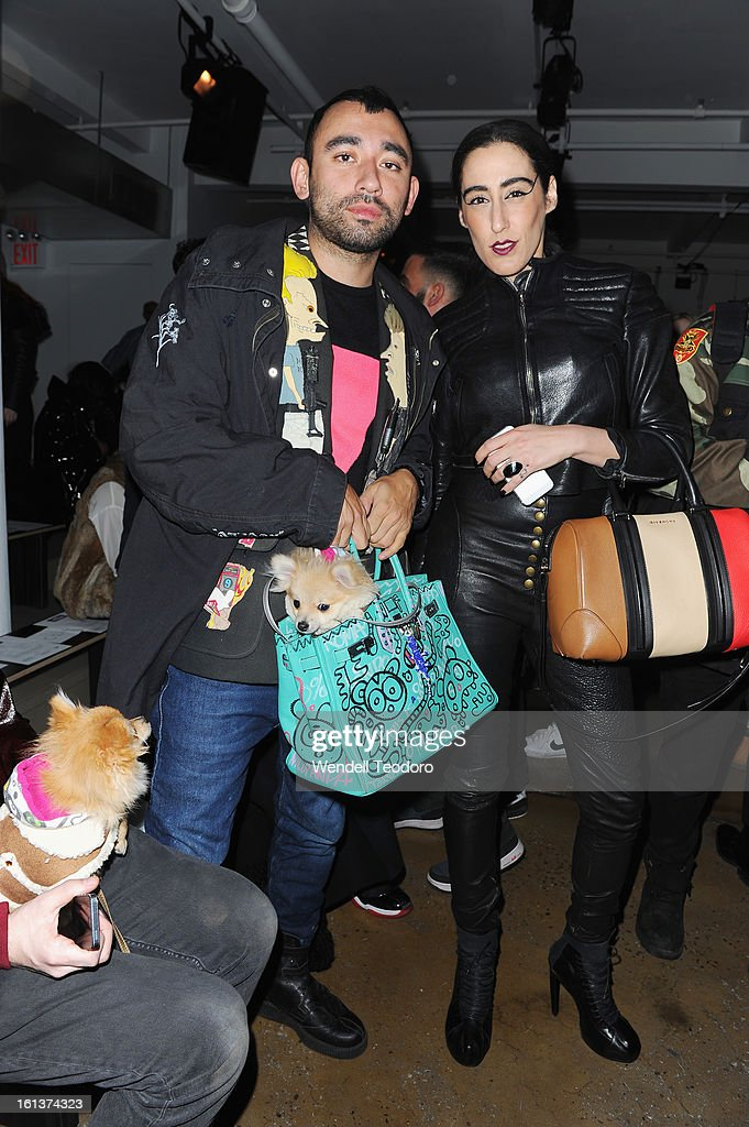 Nicola Formichetti and Lady Fag attend Hood by Air during Fall 2013 MADE Fashion Week on February 10, 2013 in New York City.