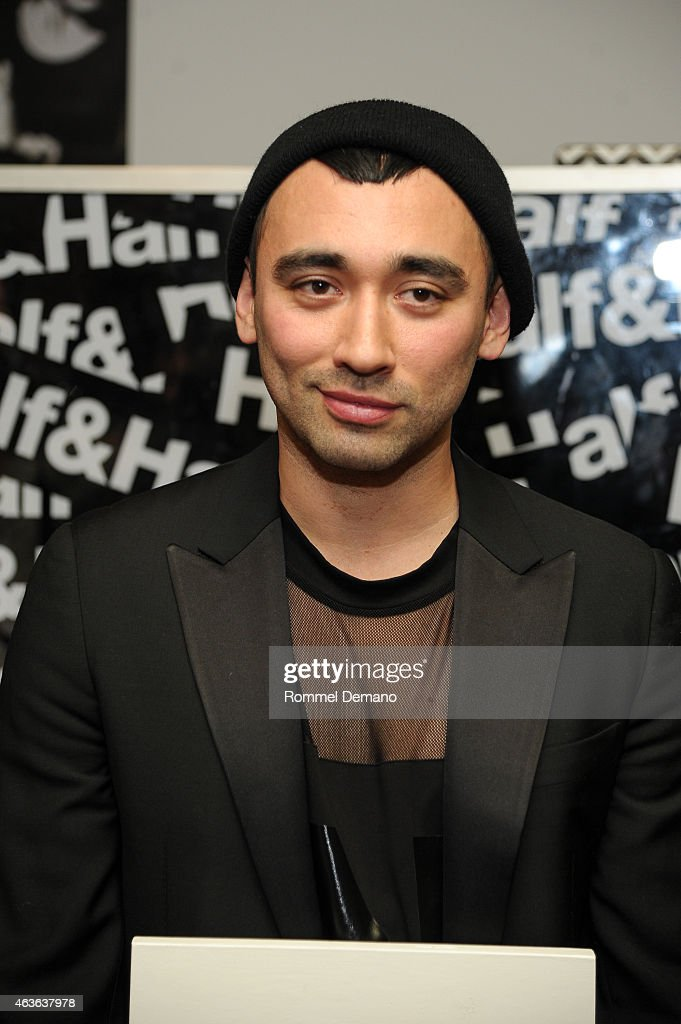 <a gi-track='captionPersonalityLinkClicked' href=/galleries/search?phrase=Nicola+Formichetti&family=editorial&specificpeople=7376980 ng-click='$event.stopPropagation()'>Nicola Formichetti</a> attends Fashion Honors Featuring <a gi-track='captionPersonalityLinkClicked' href=/galleries/search?phrase=Nicola+Formichetti&family=editorial&specificpeople=7376980 ng-click='$event.stopPropagation()'>Nicola Formichetti</a> With Tumblr at Half & Half on February 16, 2015 in New York City.