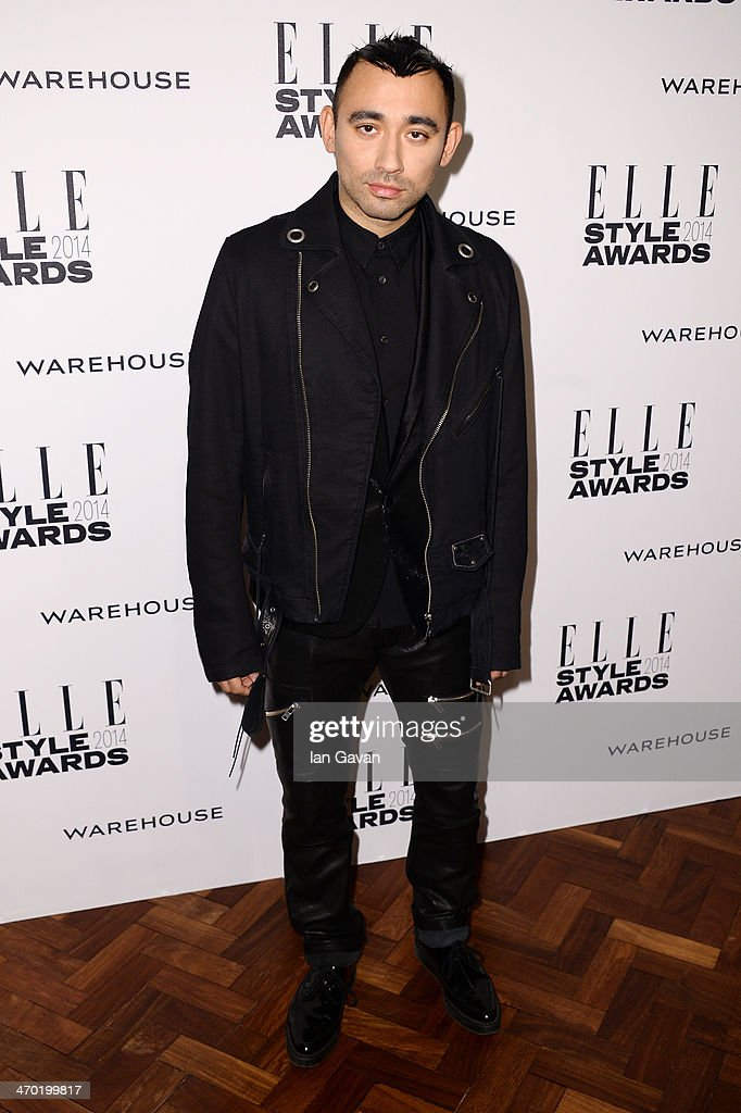 <a gi-track='captionPersonalityLinkClicked' href=/galleries/search?phrase=Nicola+Formichetti&family=editorial&specificpeople=7376980 ng-click='$event.stopPropagation()'>Nicola Formichetti</a> attends the Elle Style Awards 2014 at one Embankment on February 18, 2014 in London, England.>>