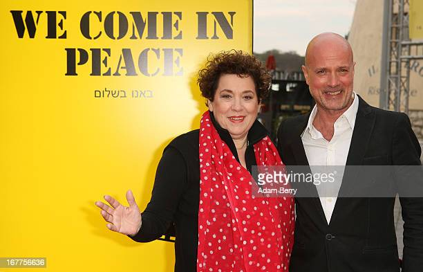 Nicola Galliner and Christian Berkel arrive for the opening of the 19th Jewish Film Festival Berlin Potsdam on April 29 2013 in Potsdam Germany The...