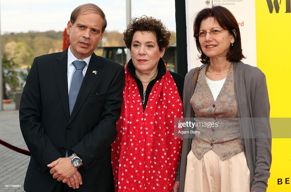 Nicola Galliner, Yakov Hadas-Handelsman and Ita Hadas-Handelsman arrive for the opening of the 19th Jewish Film Festival Berlin & Potsdam on April 29, 2013 in Potsdam, Germany. The festival was founded in 1995 on the 50th anniversary of the end of World War II.