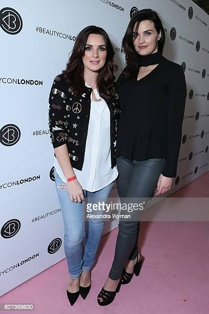 Nicola Haste and Sam Chapman AKA Pixiwoo attend Beautycon Festival London 2016 at Olympia London on December 3 2016 in London England