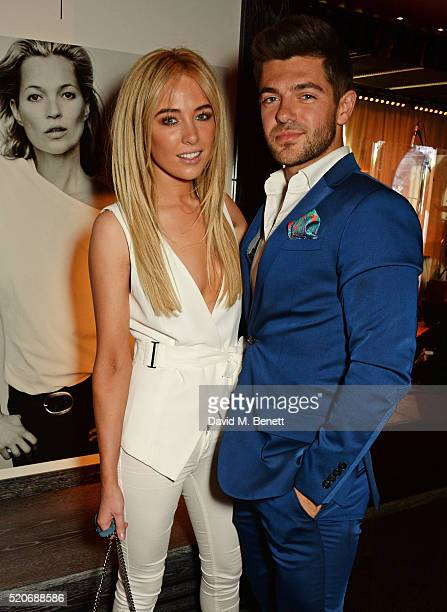 Nicola Hughes and Alex Mytton attend Fashion Targets Breast Cancer's 20th Anniversary Party at 100 Wardour St on April 12 2016 in London England