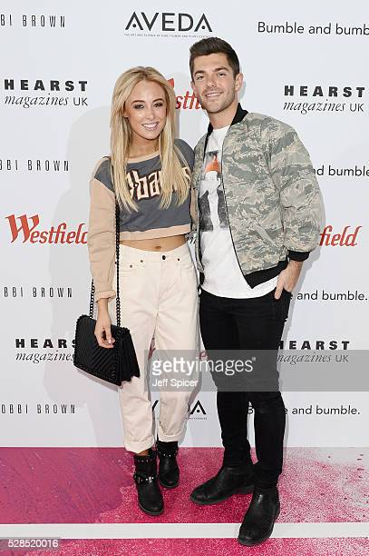 Nicola Hughes and Alex Mytton attend the launch of Beauty Unbound at Westfield London on May 5 2016 in London England
