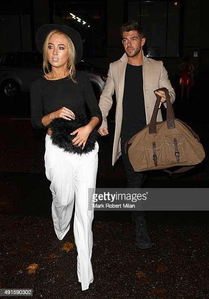 Nicola Hughes and Alex Mytton attending the Specsavers 'Spectacle Wearer of the Year' party on October 6 2015 in London England