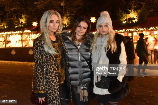 Nicola Hughes Emily Blackwell and Lottie Moss attend the VIP launch of Hyde Park Winter Wonderland 2017 on November 16 2017 in London England